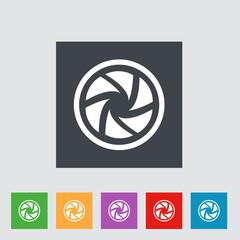 Flat camera shutter icon