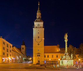Trnava -  The Main square with the bell-tower