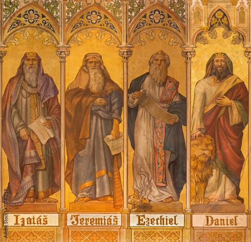 Trnava - fresco of prophets Isaiah, Jeremiah, Ezekiel, Daniel - 71741239