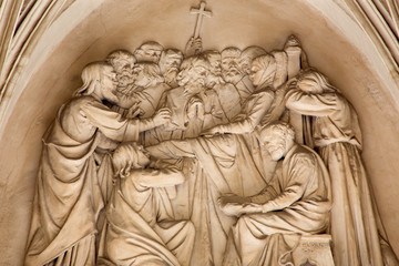 Vienna - The relief of the death of Virgin Mary