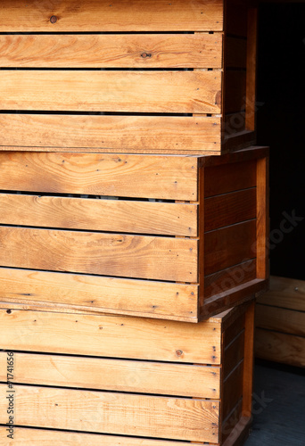 Poster Light wooden cargo boxes