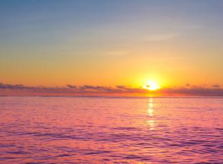 Evening Seascape Skyline