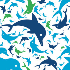 dolphin seamless pattern