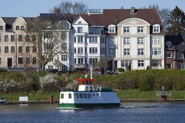 Fähre über den Nord-Ostsee-Kanal, Kiel,Schleswig-Holstein,Deut