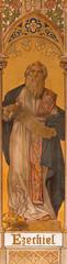 Trnava - The neo-gothic fresco of prophet Ezekiel