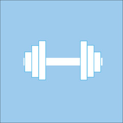 Fitness dumbbell icon