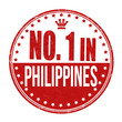 Number one in Philippines stamp
