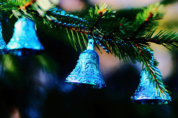 Christmas decorations  blue bells
