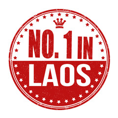 Number one in Laos stamp