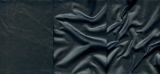 Set of dark leather textures