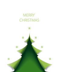 Weihnachtsbaum grün als Weihnachtskarte