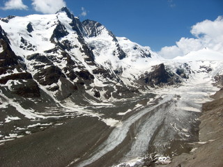 The Glacier Pasterze of the Grossglockner Mountains,  Austria.