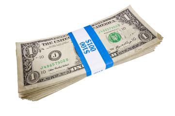 Bundle of A Hundred One Dollar Bills
