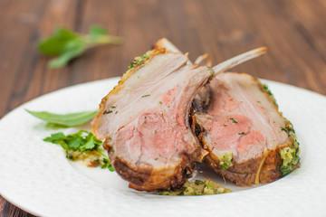 rib of lamb, lamb cutlet on the bone