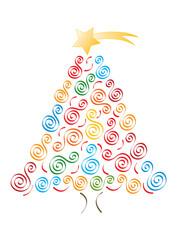 Jolly merry christmas tree
