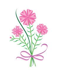 Flowers bouquet, vector