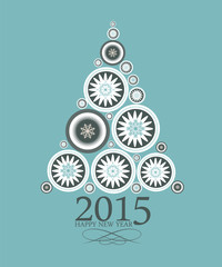 Abstract Beauty Christmas and New Year 2015  Background. Vector