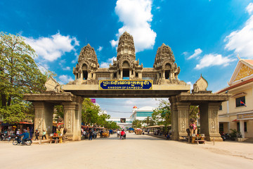 The gate to the state of Cambodia from Thailand. March 23, 2014.