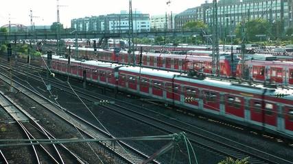 The Train Station in Frankfurt