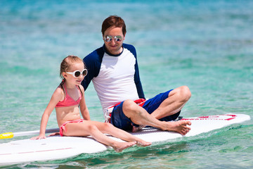 Father and daughter on vacation