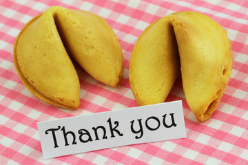 Thank you card with fortune cookies