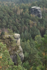 Blick vom Rauenstein zur Nonne in der Sächsischen Schweiz