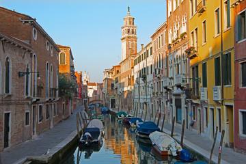 Venice - Fondamenta Giardini street in the morning