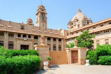 Outside view of Umaid Bhawan Palace of Rajasthan