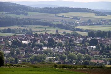 Blick auf Barntrup vom Saalberg aus