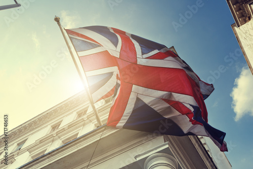 canvas print picture flag of UK on government building