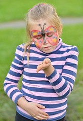 Beautiful Butterfly Face Painting