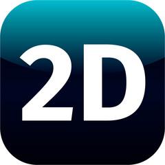 modern blue 2D icon