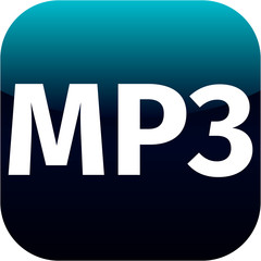 blue mp3 music icon