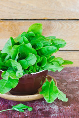 fresh sorrel leaves