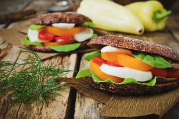 sandwiches with mozzarella