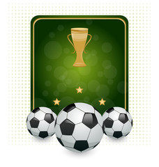 Football layout with champion cup and place for your text