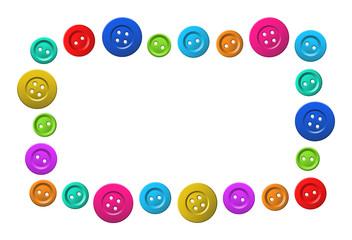 vector color button frame