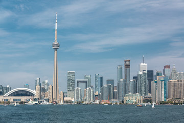great scenic view at Toronto city waterfront skyline