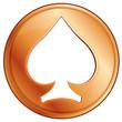 poker chip, vector illustration