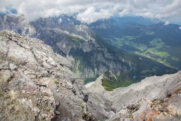 Alps - Outlook from ascent on Watzmann