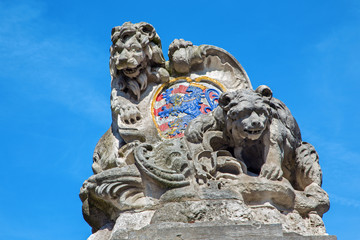Bruges - The Arms of the town Bruges (lion and bear)
