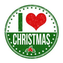 I love Christmas stamp
