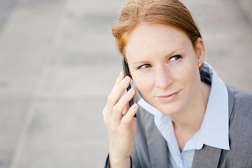 Successful Businesswoman on the Phone
