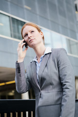 Corporate Businesswoman on the Phone