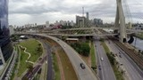 Aerial View from Octavio Frias Bridge in Sao Paulo, Brazil poster