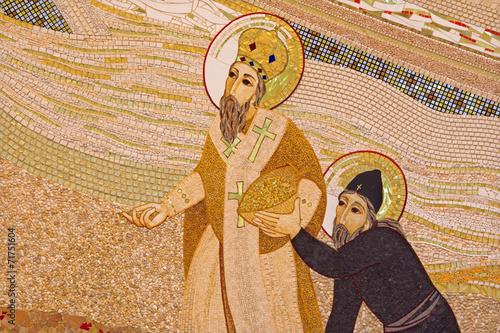 Bratislava -  mosaic of st. Cyril and Methodius. - 71751604