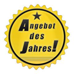 es24 EmailleSchild - adj adj6 Angebot des Jahres - gelb g2097