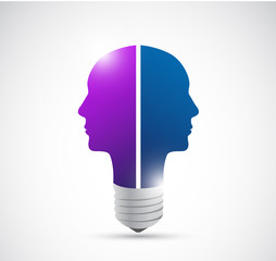 brainstorming people concept.