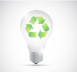 recycle light bulb illustration design
