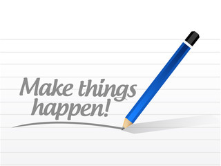 make things happen message illustration